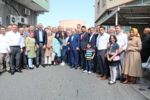 KİRAZLITEPE'DE AĞASAR'LILARIN BAYRAMLAŞMA PRORAMINDA ÖZEL MİSAFİRLERİ