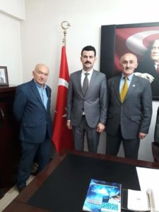 BAŞKAN ÖMER'DEN KAYMAKAM'A ZİYARET