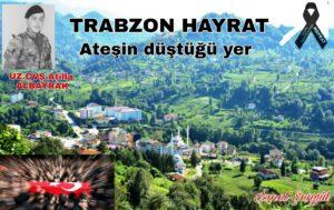 ŞEHİT ACISI TRABZON'A DÜŞTÜ