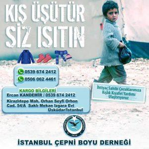 """ÇEPNİ BOYU DERNEĞİ'NDEN """"BİR MONT BİR BOT"""" KAMPANYASI"""