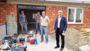 GEYİKLİ'DEKİ SOSYAL HİZMET BİNASI'IN YAPIMI HIZLA BİTİYOR